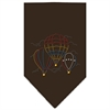 Mirage Pet Products Hot Air Balloons Rhinestone Bandana Cocoa Large