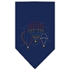 Mirage Pet Products Hot Air Balloons Rhinestone Bandana Navy Blue large