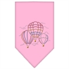 Mirage Pet Products Hot Air Balloons Rhinestone Bandana Light Pink Large