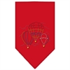 Mirage Pet Products Hot Air Balloons Rhinestone Bandana Red Small