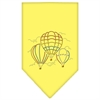 Mirage Pet Products Hot Air Balloons Rhinestone Bandana Yellow Small