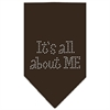 Mirage Pet Products Its All About Me Rhinestone Bandana Cocoa Small
