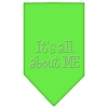 Mirage Pet Products Its All About Me Rhinestone Bandana Lime Green Small