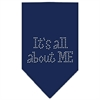 Mirage Pet Products Its All About Me Rhinestone Bandana Navy Blue Small