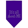 Mirage Pet Products Its All About Me Rhinestone Bandana Purple Small