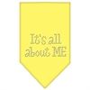 Mirage Pet Products Its All About Me Rhinestone Bandana Yellow Large