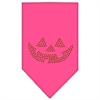 Mirage Pet Products Jack O Lantern Rhinestone Bandana Bright Pink Large