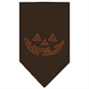 Mirage Pet Products Jack O Lantern Rhinestone Bandana Cocoa Large