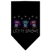 Mirage Pet Products Let It Snow Penguins Rhinestone Bandana Black Small