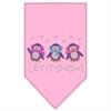 Mirage Pet Products Let It Snow Penguins Rhinestone Bandana Light Pink Large