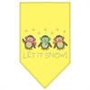 Mirage Pet Products Let It Snow Penguins Rhinestone Bandana Yellow Small