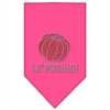 Mirage Pet Products Lil Punkin Rhinestone Bandana Bright Pink Large