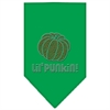 Mirage Pet Products Lil Punkin Rhinestone Bandana Emerald Green Large