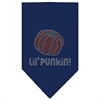 Mirage Pet Products Lil Punkin Rhinestone Bandana Navy Blue Small