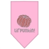 Mirage Pet Products Lil Punkin Rhinestone Bandana Light Pink Large