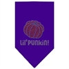 Mirage Pet Products Lil Punkin Rhinestone Bandana Purple Small