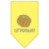 Mirage Pet Products Lil Punkin Rhinestone Bandana Yellow Small