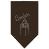 Mirage Pet Products London Rhinestone Bandana Cocoa Large