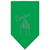 Mirage Pet Products London Rhinestone Bandana Emerald Green Small