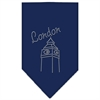 Mirage Pet Products London Rhinestone Bandana Navy Blue Small