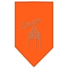Mirage Pet Products London Rhinestone Bandana Orange Large