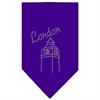 Mirage Pet Products London Rhinestone Bandana Purple Large