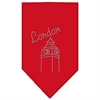 Mirage Pet Products London Rhinestone Bandana Red Small
