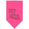 Mirage Pet Products Louisiana Rhinestone Bandana Bright Pink Small