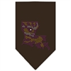 Mirage Pet Products Louisiana Rhinestone Bandana Cocoa Large