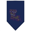 Mirage Pet Products Louisiana Rhinestone Bandana Navy Blue Small