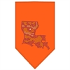 Mirage Pet Products Louisiana Rhinestone Bandana Orange Large
