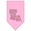 Mirage Pet Products Louisiana Rhinestone Bandana Light Pink Large