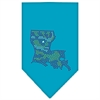 Mirage Pet Products Louisiana Rhinestone Bandana Turquoise Large