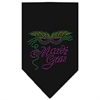 Mirage Pet Products Mardi Gras Rhinestone Bandana Black Large