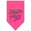 Mirage Pet Products Mardi Gras Rhinestone Bandana Bright Pink Large