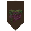 Mirage Pet Products Mardi Gras Rhinestone Bandana Cocoa Small