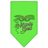 Mirage Pet Products Mardi Gras Rhinestone Bandana Lime Green Small