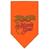 Mirage Pet Products Mardi Gras Rhinestone Bandana Orange Small