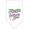Mirage Pet Products Mardi Gras Rhinestone Bandana White Large