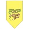 Mirage Pet Products Mardi Gras Rhinestone Bandana Yellow Small