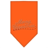 Mirage Pet Products Merry Christmas Rhinestone Bandana Orange Small