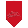 Mirage Pet Products Merry Christmas Rhinestone Bandana Red Small