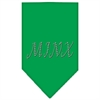 Mirage Pet Products Minx Rhinestone Bandana Emerald Green Large