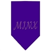 Mirage Pet Products Minx Rhinestone Bandana Purple Large