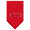 Mirage Pet Products Minx Rhinestone Bandana Red Large