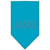 Mirage Pet Products Minx Rhinestone Bandana Turquoise Large