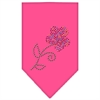 Mirage Pet Products Multi Flower Rhinestone Bandana Bright Pink Large