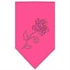 Mirage Pet Products Multi Flower Rhinestone Bandana Bright Pink Large