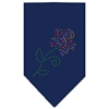 Mirage Pet Products Multi Flower Rhinestone Bandana Navy Blue large