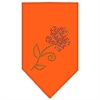 Mirage Pet Products Multi Flower Rhinestone Bandana Orange Large